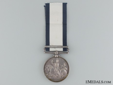 """Silver Medal (with """"ST DOMINGO"""" clasp) Reverse"""