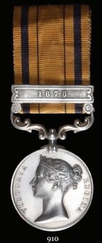 """South Africa Medal (1880) (with """"1878"""" clasp)"""