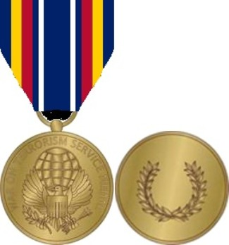 Global War on Terrorism Expeditionary Medal Obverse with Ribbon and Revere