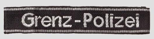 SS-SD Grenz-Polizei NCO/EM Cuff Title Obverse