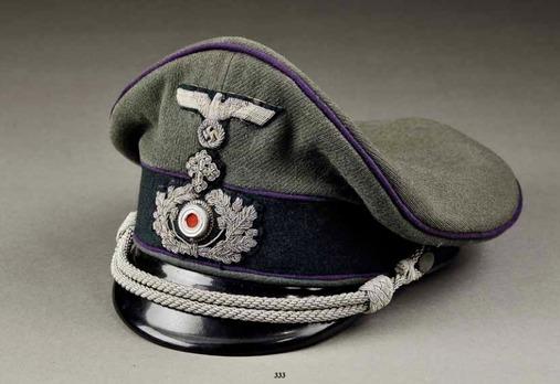 German Army Chaplain's Visor Cap (post-1935) Profile