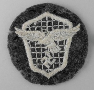 Motorized Support Troops of the Luftwaffe Badge Reverse