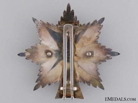 Order of Dannebrog, Grand Cross Breast Star (Silver) Reverse