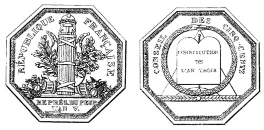 """Medal (stamped """"GATTEAUX"""") Obverse and Reverse"""