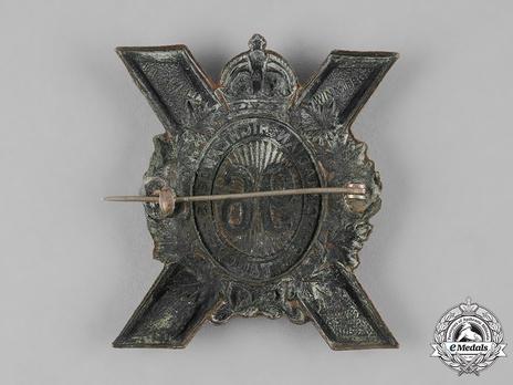 96th Infantry Battalion Other Ranks Glengarry Badge Reverse