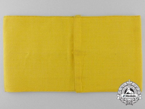 German Army Civilian Member of the Armed Forces Armband Reverse