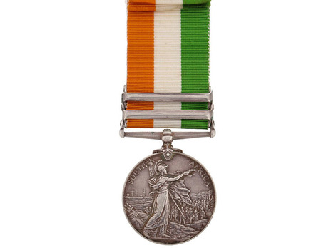 King's South Africa Medal (No clasp) Reverse
