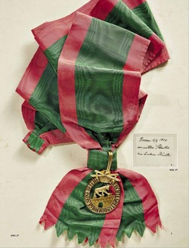 Order of Albert the Bear, Grand Cross with Swords (in bronze gilt)