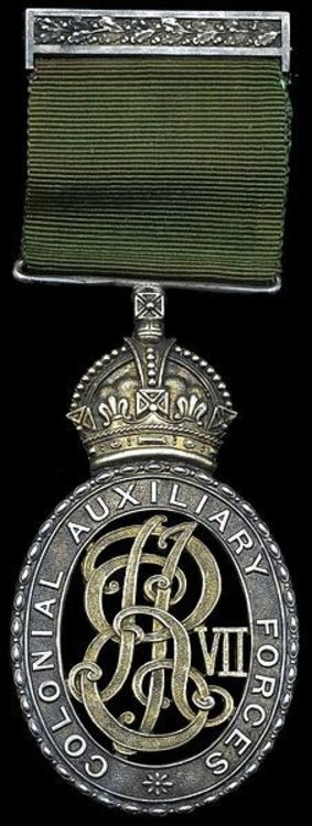 Colonial auxiliary forces officers%27 decoration %28edward vii%29