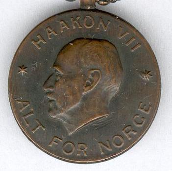 War Medal (Haakon VII) Obverse