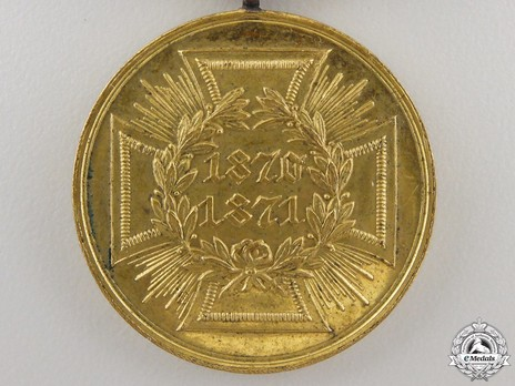Prussian Campaign Medal, for Combatants (in bronze gilt)