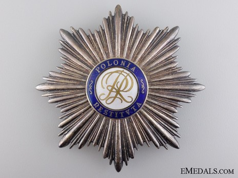 Order of Polonia Restituta, Grand Cross Breast Star (1921-1939) Obverse