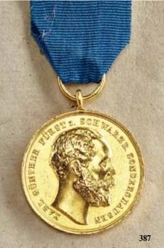 Service Medal for Art and Science, Type II, in Gold (1889-1898)