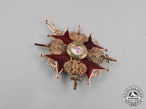 Type II, Military Division, I Class Badge (with swords, in gold)