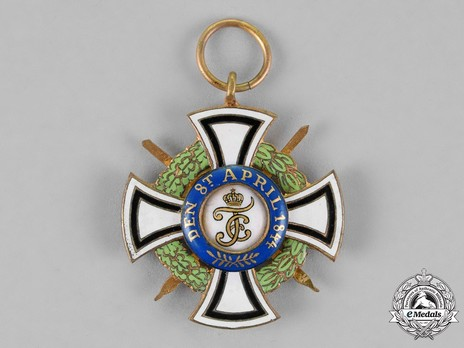 House Order of Hohenzollern, Type II, Military Division, II Class Honour Cross (1866-1918) Reverse