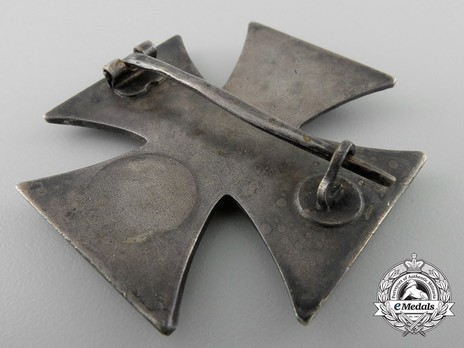 Iron Cross I Class, by E. F. Wiedmann (unmarked) Reverse