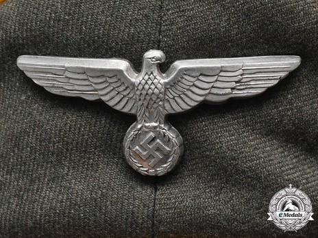 German Army Cavalry Officer's Visor Cap Eagle Detail