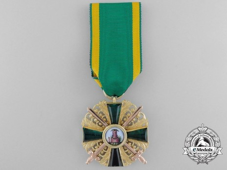I Class Knight with Swords (in gold) Obverse with Ribbon