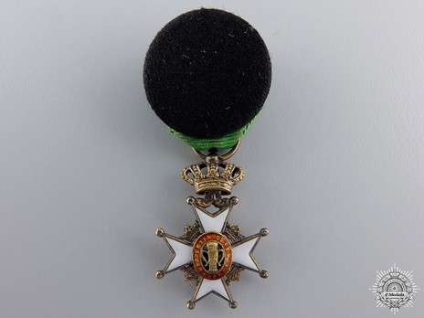Miniature I Class Knight (with silver gilt, 1860-1975) Reverse