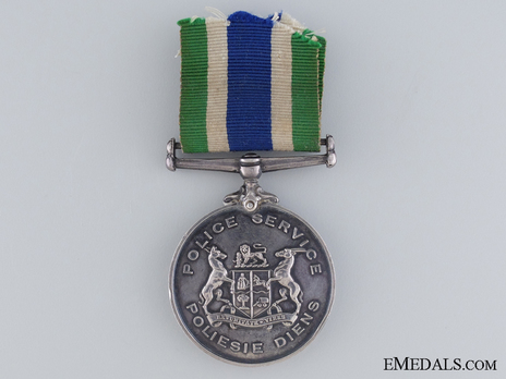South African Police Medal for Faithful Service (Named) Obverse