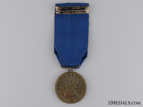 Order of the White Rose, Type I, Military Divison, III Class Bronze Medal Reverse