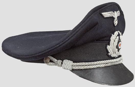 Kriegsmarine Blue Administrative Officials Visor Cap Right