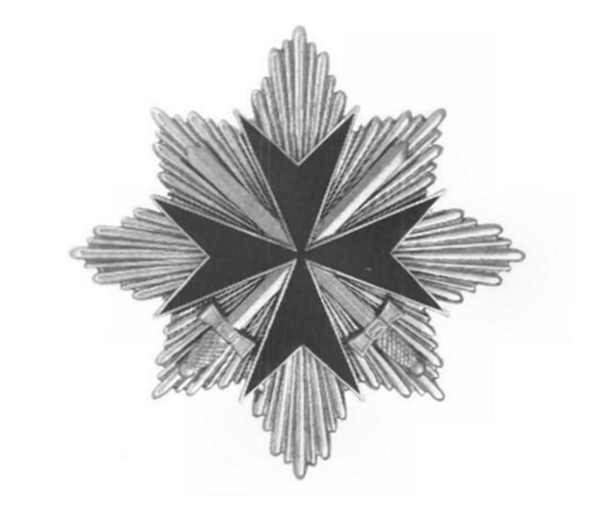 German+knight%27s+cross%2c+breast+star%2c+in+silver