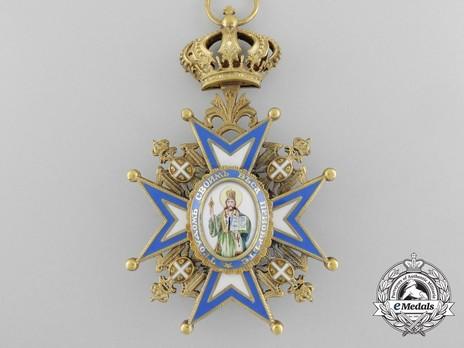 Order of Saint Sava, Type III, I Class Obverse