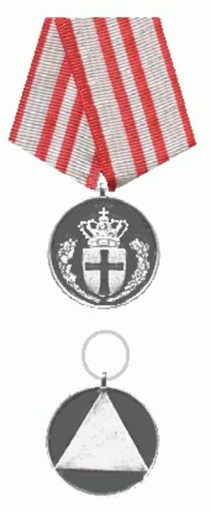 Redningsberedskabets medalje danmark voor  en keerzijde