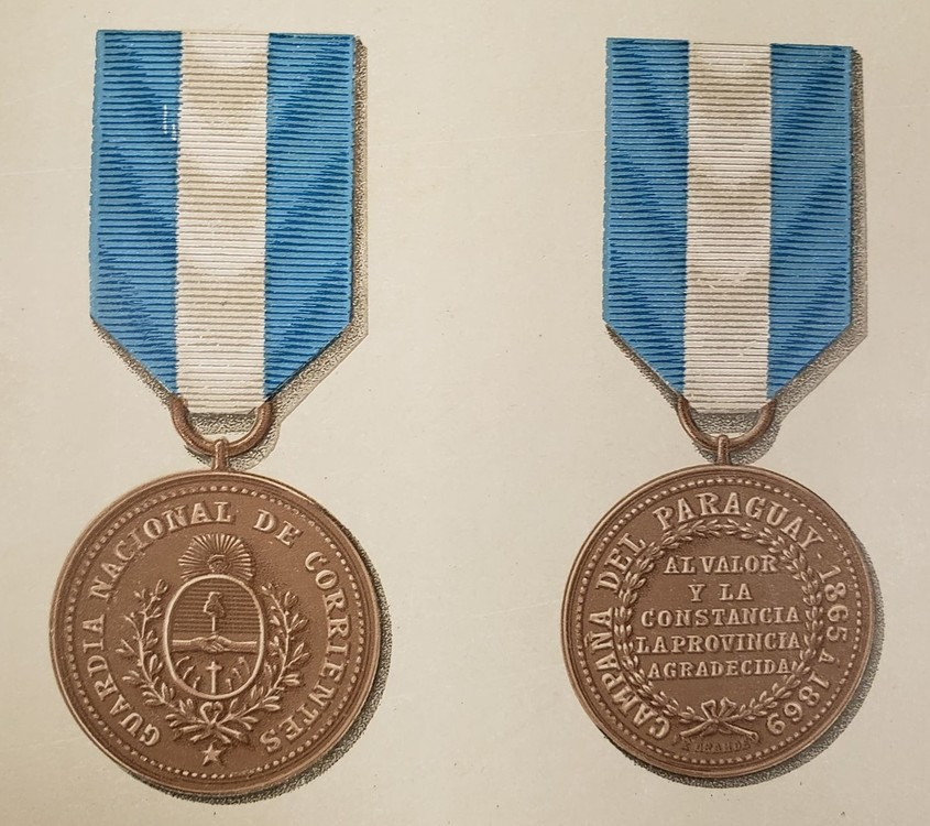 Guardia+nacional+de+corrientes+al+valor+y+la+constancia+campa%c3%b1a+del+paraguay+bronce