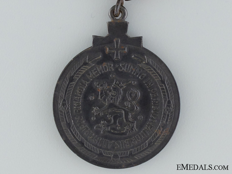 """Winter War Medal, Type II (with clasp """"LAPPI"""") Reverse"""