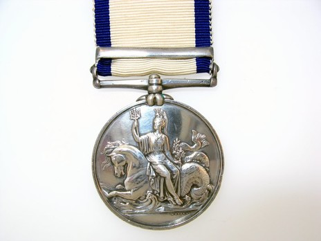 "Silver Medal (with ""BASQUE ROADS 1809"" clasp) Reverse"