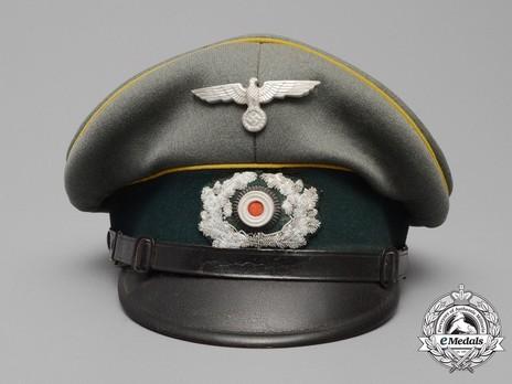 German Army Post-1936 Signals NCO/EM's Visor Cap Front