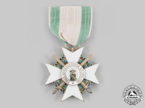 Order of Merit, Type II, Military Division, I Class Knight  (with swords 1914-1918) Reverse