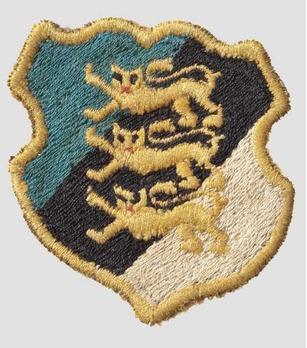 Waffen-SS Estonian Volunteer Arm Shield (1st pattern) Obverse