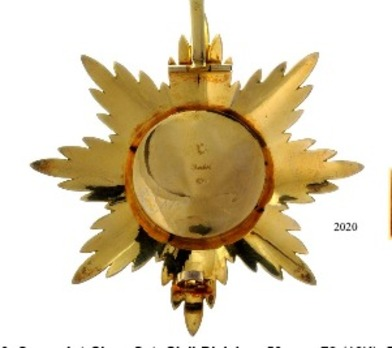 Order of St. Anne I & II, Type II, Civil Division, Class Breast Star, by A. Keibel (in silver) Reverse