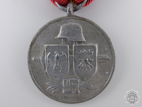 """Commemorative Medal of the Spanish """"Blue Division"""" (in silvered zinc) Obverse"""
