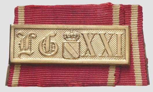 Military Long Service Bar, I Class (1868-1913) (for 21 Years) Obverse