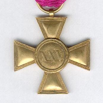 Gold Cross for 25 Years (Bronze gilt) Reverse