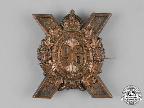 96th Infantry Battalion Other Ranks Glengarry Badge Obverse