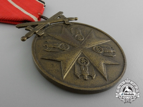 Bronze Merit Medal with Swords Obverse
