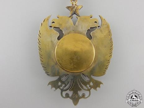 Order of Skanderbeg, Type II, Grand Officer's Cross Reverse