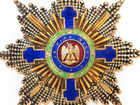 The Order of the Star of Romania, Type I, Military Division, Grand Cross Breast Star Obverse