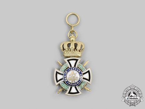 Royal House Order of Hohenzollern, Miniature Knight Reverse