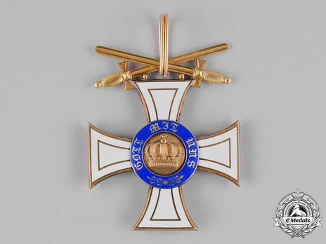 Military Division, Type II, II Class Cross (with swords, in silver gilt)