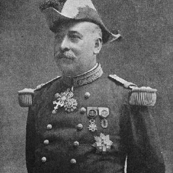 Charles Lanrezac wearing the Spanish Order of Military Merit