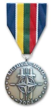 National Defence System of the Republic of Lithuania Commemorative Medal of Lithuania's Accession to NATO Obverse