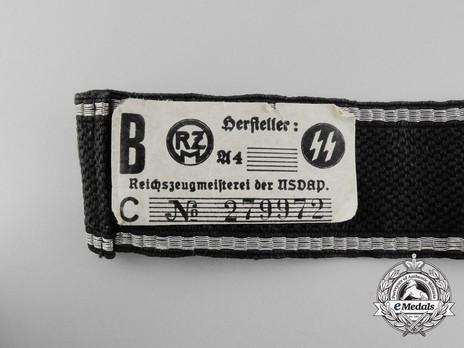 Allgemeine SS 8th Standarte Cuff Title Reverse