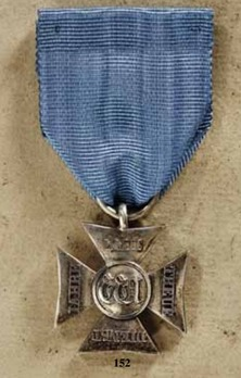 Long Service Cross, in Silver for 22 Years