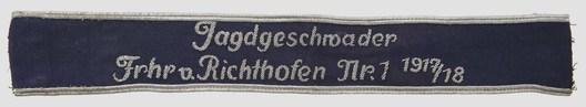 Luftwaffe Jagdgeschwader 1917/18 Cuff Title (NCO/EM version) Obverse